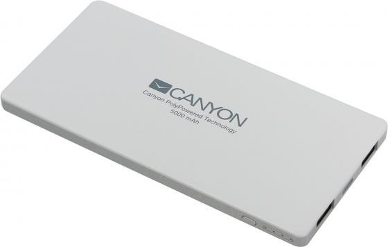 Портативное зарядное устройство Canyon CNS-TPBP5W 5000мАч белый r o c s бад рокс медикал со вкусом шоколада 60 табл