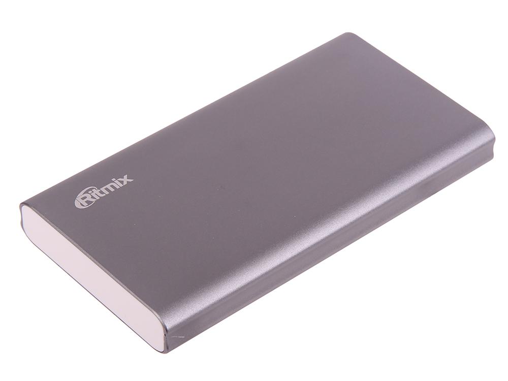 Портативное зарядное устройство Ritmix RPB-10977PQC 10000мАч серый внешние аккумуляторы ritmix внешнее зу ritmix rpb 6007p black