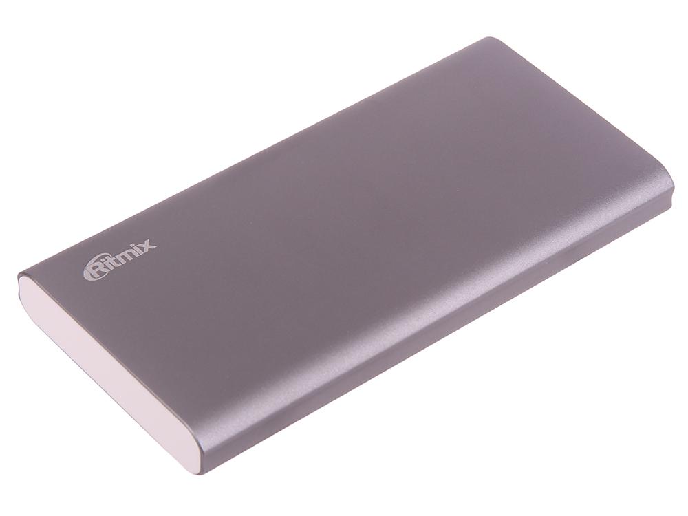 Портативное зарядное устройство Ritmix RPB-12077P 12000мАч серый ritmix rpb 12077p silver внешний аккумулятор 12000 мач