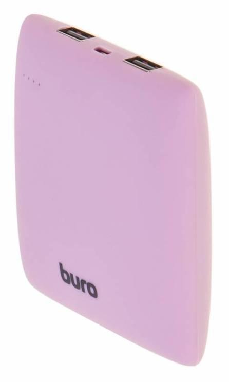 Портативное зарядное устройство Buro RA-7500PL-PK 7500мАч розовый аккумулятор внешний buro ra 7500pl