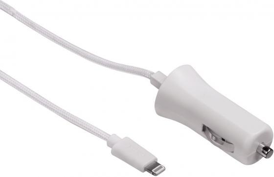 Автомобильное зарядное устройство Hama H-134607 2.4A для Apple белый конверты hama для cd dvd бумажные с прозрачным окошком белый 25шт h 51060