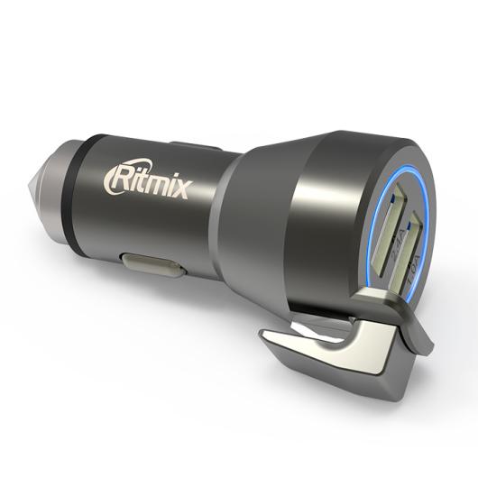 Автомобильное зарядное устройство Ritmix RM-2429DC автомобильное зарядное устройство ritmix rm 2121dc black silver