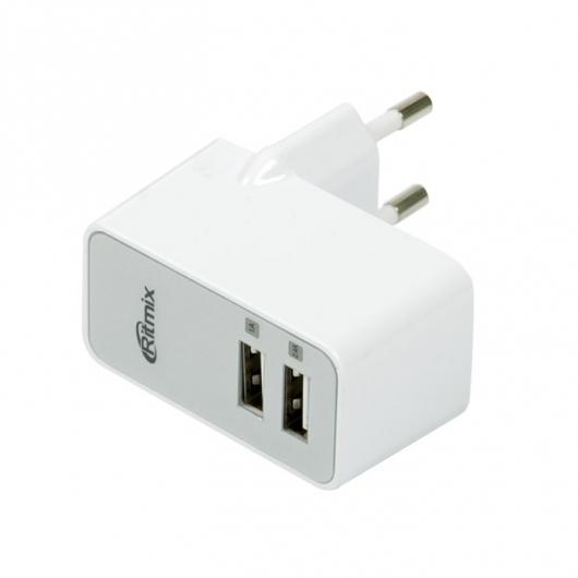 Сетевое зарядное устройство Ritmix RM-218 ritmix rm 118 сетевое зарядное устройство