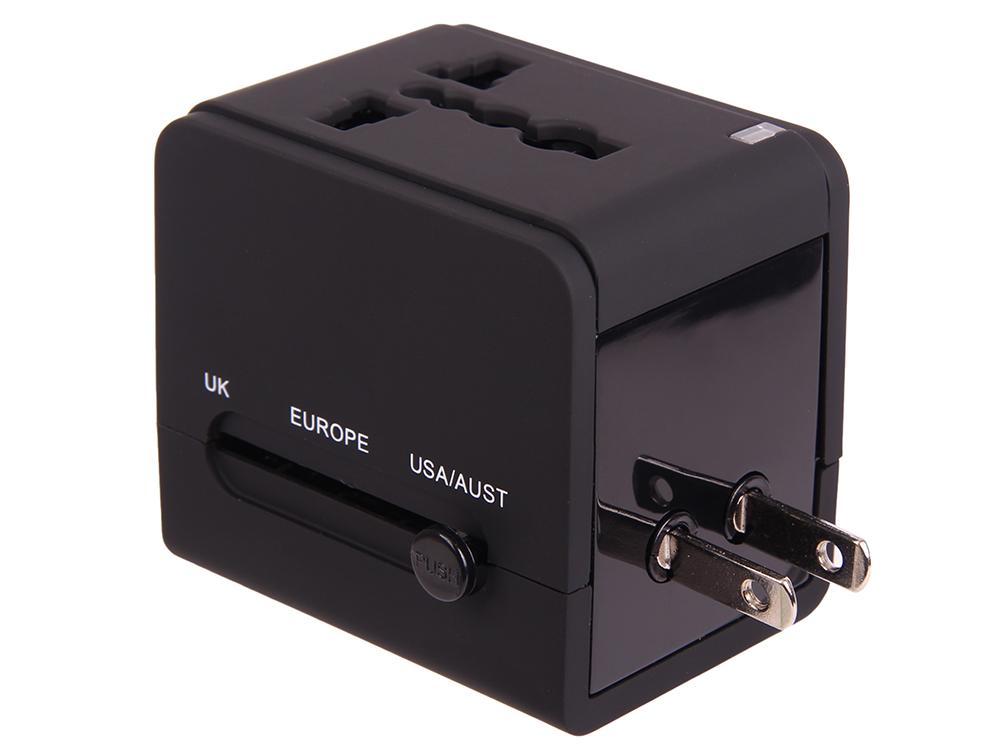 Сетевое зарядное устройство Ritmix RM-6021AC black зарядное устройство ritmix rm 001 onext alwise deppa tr 018 usb 1000 ma сетевое 23123
