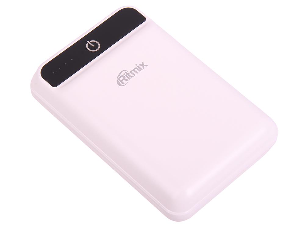 Портативное зарядное устройство Ritmix RPB-10003L white ritmix rpb 12077p silver внешний аккумулятор 12000 мач