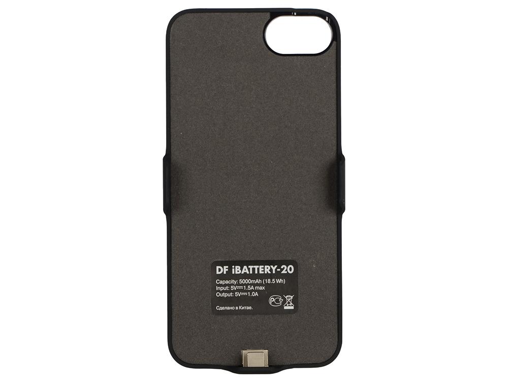 Аккумулятор-чехол для iPhone 6/6s/7 (5000 мАч) DF iBattery-20 (black) аксессуар чехол аккумулятор boostcase 2700 mah для iphone 6 6s transparent black bch2700ip6 onx