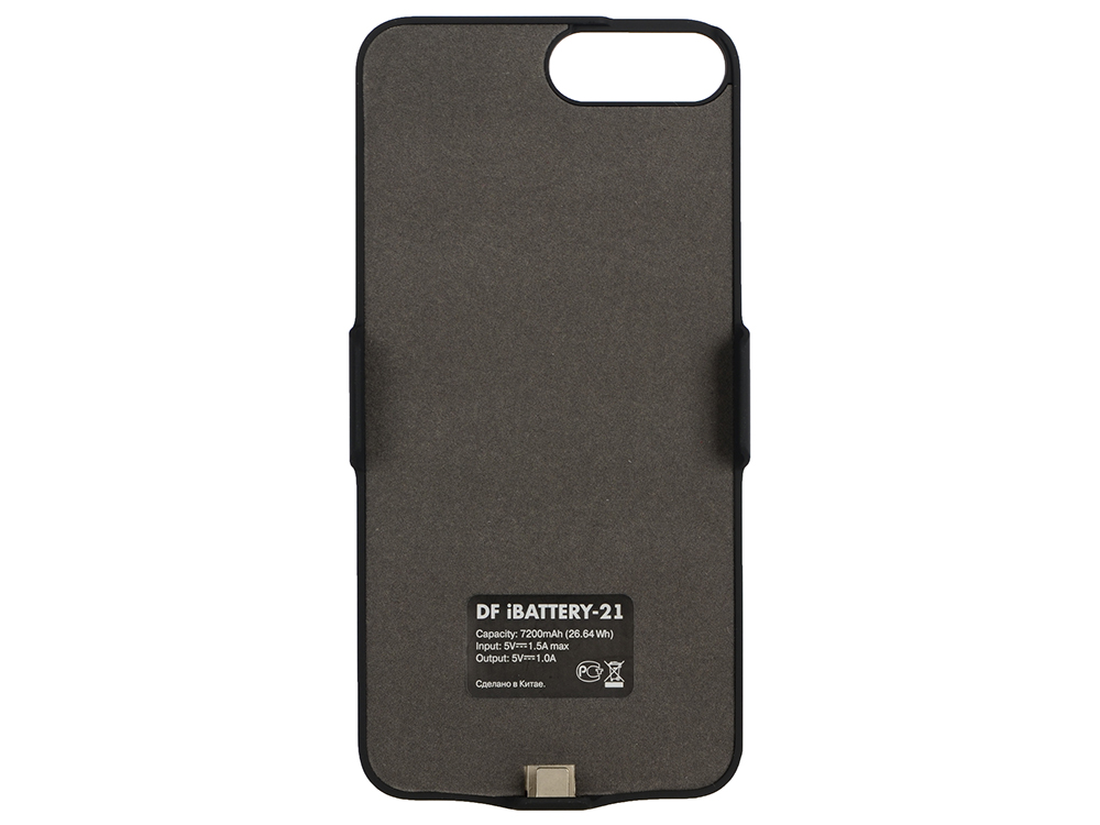 Аккумулятор-чехол для iPhone 6 Plus/6s Plus/7 Plus (7200 мАч) DF iBattery-21 (black)