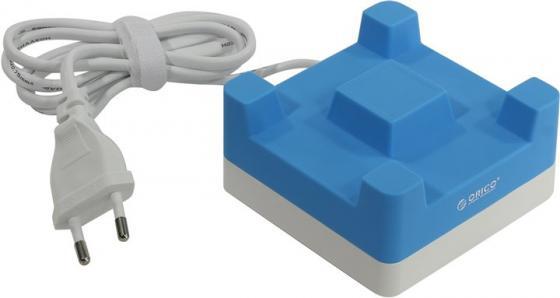 Сетевое зарядное устройство Orico CHA-4U-EU 4 x USB синий сетевое зарядное устройство orico dcv 4u eu wh 2 4а 4 x usb белый