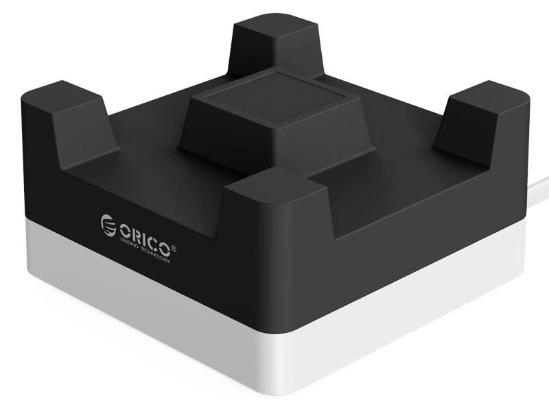 Сетевое зарядное устройство Orico CHA-4U-EU 4 x USB черный orico power strip eu plug 6 outlet surge protector eu power strip with 5x2 4a usb super charger ports white hpc v1