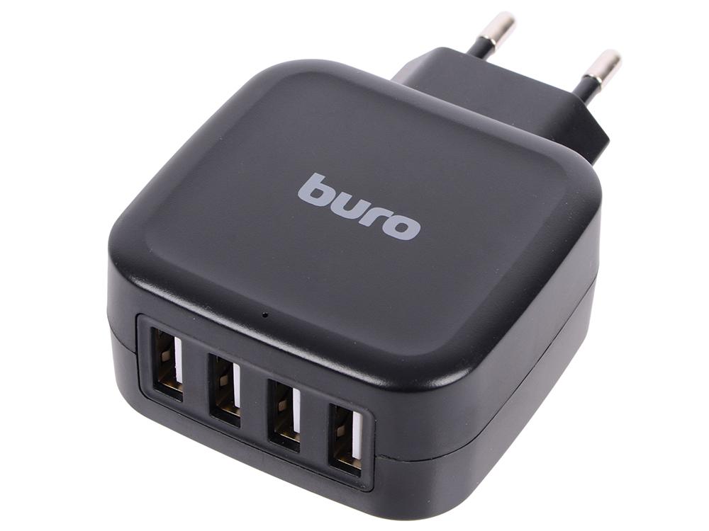Сетевое зарядное устройство BURO TJ-286B 5А USB черный