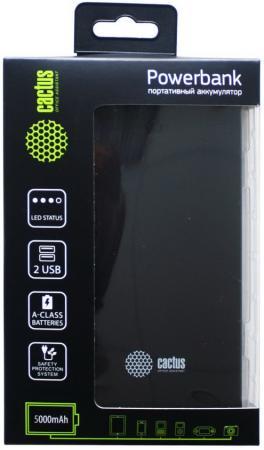 Портативное зарядное устройство Cactus CS-PBAS282 5000мАч черный серый портативное зарядное устройство cactus cs pbas283 10000мач черный серый