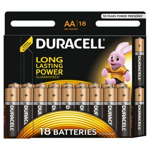 Батарейки DURACELL (АА) LR6-18BL BASIC 18 шт батарейки samsung pleomax lr6 aa 10 шт