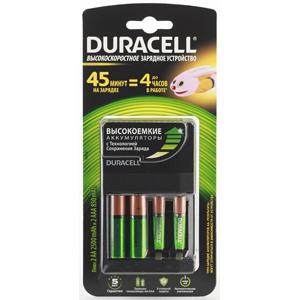 Зарядное устройство  DURACELL CEF14 45-MIN EXPRESS CHARGER + 2 Х AA2500 MAH + 2 Х AAA850 MAH зарядное устройство duracell cef14 аккумуляторы 2 х aa2500 mah 2 х aaa850 mah