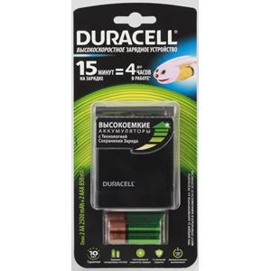 Зарядное устройство DURACELL CEF27 15-MIN EXPRESS CHARGER + 2 Х AA2500 MAH + 2 Х AAA850 MAH зарядное устройство для аккумуляторов duracell cef14