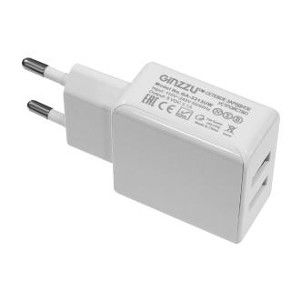 цена на Зарядное устройство/адаптер питания USB от эл.сети GINZZU GA-3311UW 2xUSB 3,1A 5V белый
