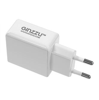 все цены на Зарядное устройство/адаптер питания USB от эл.сети GINZZU GA-3313UW 2xUSB 3,1A 5V белый + кабель Apple Lightning 1м онлайн