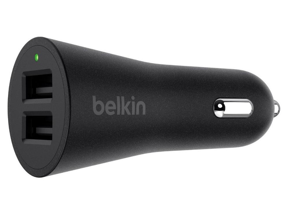 Автомобильное зарядное устройство Belkin F8J221bt04-BLK 2.4А USB черный зарядное устройство soalr 16800mah usb ipad iphone samsug usb dc 5v computure