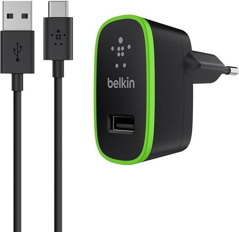 Сетевое зарядное устройство Belkin F7U001vf06-BLK 2.1А USB черный belkin belkin 302617