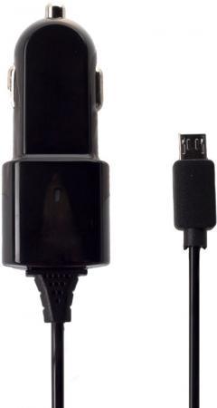 Автомобильное зарядное устройство Partner 1A microUSB черный ПР028251 беспроводное зарядное устройство partner olmio quick charge 10w microusb черный пр038528