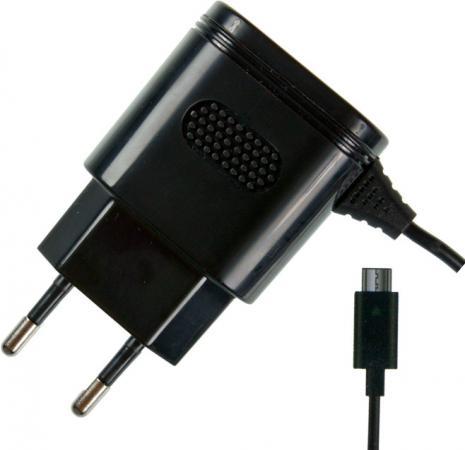 Сетевое зарядное устройство Partner 2.1A microUSB черный ПР032046 беспроводное зарядное устройство partner olmio quick charge 10w microusb черный пр038528