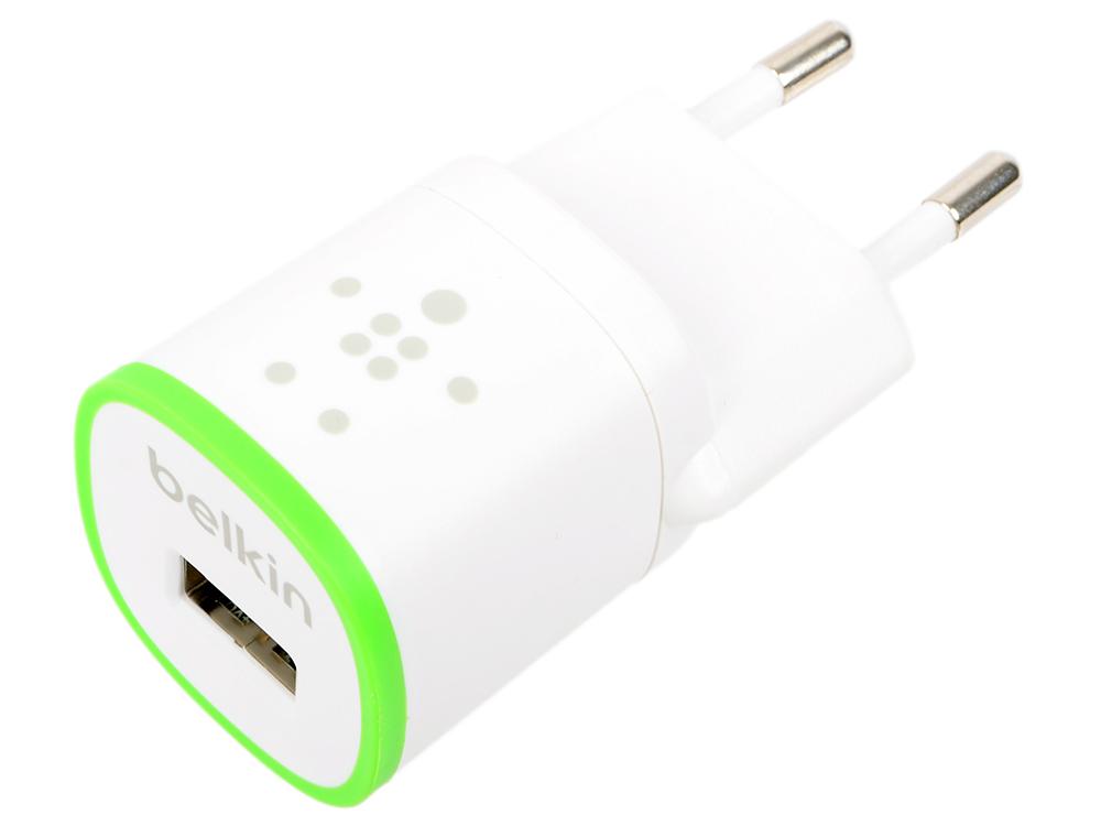 Сетевое зарядное устройство Belkin F8J013vfWHT 5V,1A белый сетевое зарядное устройство belkin f8j052cwwht 2 1a usb белый