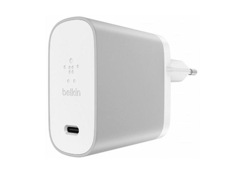 цена на Сетевое зарядное устройство Belkin F7U010vf06-SLV USB-C CHARGER 45W серебристый