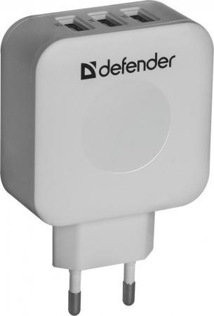 Сетевое зарядное устройство Defender UPA-30 4A  x USB белый 83535