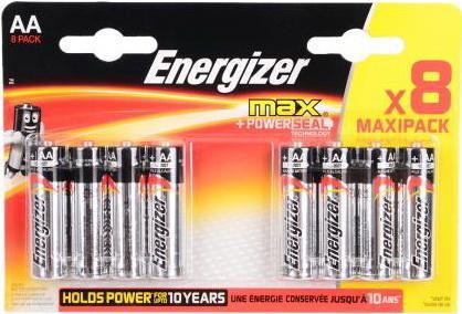 ENERGIZER Батарейка алкалиновая MАХ LR6/E91 тип АА 8шт батарейка energizer alkaline power aaa алкалиновая 8 шт