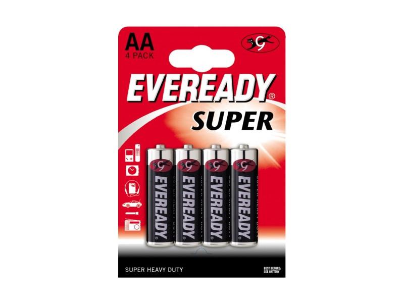 ENERGIZER Батарейка солевая Eveready Super R6 тип АА 4шт energizer аккумулятор universal тип аа 1300mah 4шт