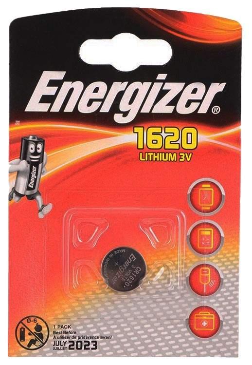 ENERGIZER Батарейка Lithium CR1620 PIP 1шт батарейка energizer cr2032 bp1 1шт в блистере