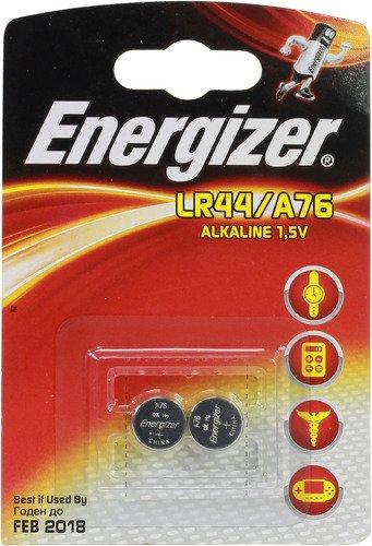 Батарейка алкалиновая ENERGIZER LR44/A76 FSB 2шт батарейка energizer alkaline power aaa алкалиновая 8 шт