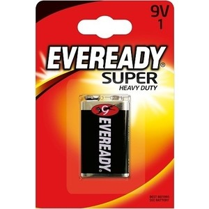 ENERGIZER Батарейка солевая Eveready Super 6F22 тип 9V 1шт uni t ut200a 1 4 lcd digital clamp multimeter 1 x 6f22 9v