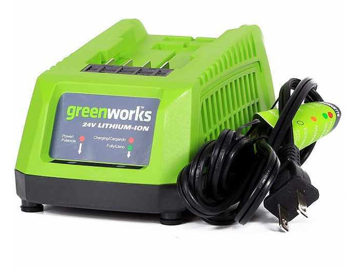 Зарядное устройство GREENWORKS G24C 2913907 (2903607) 24в g24 220В время заряда 2Ач 30мин / 4Ач 60м туника qed london qed london qe001ewboem9