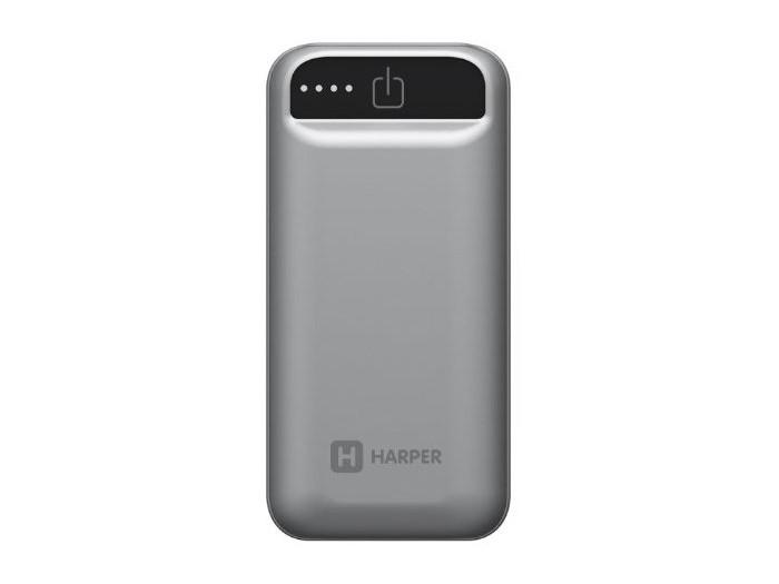 Внешний аккумулятор HARPER PB-2605 Grey harper pbs 8801 beige внешний аккумулятор