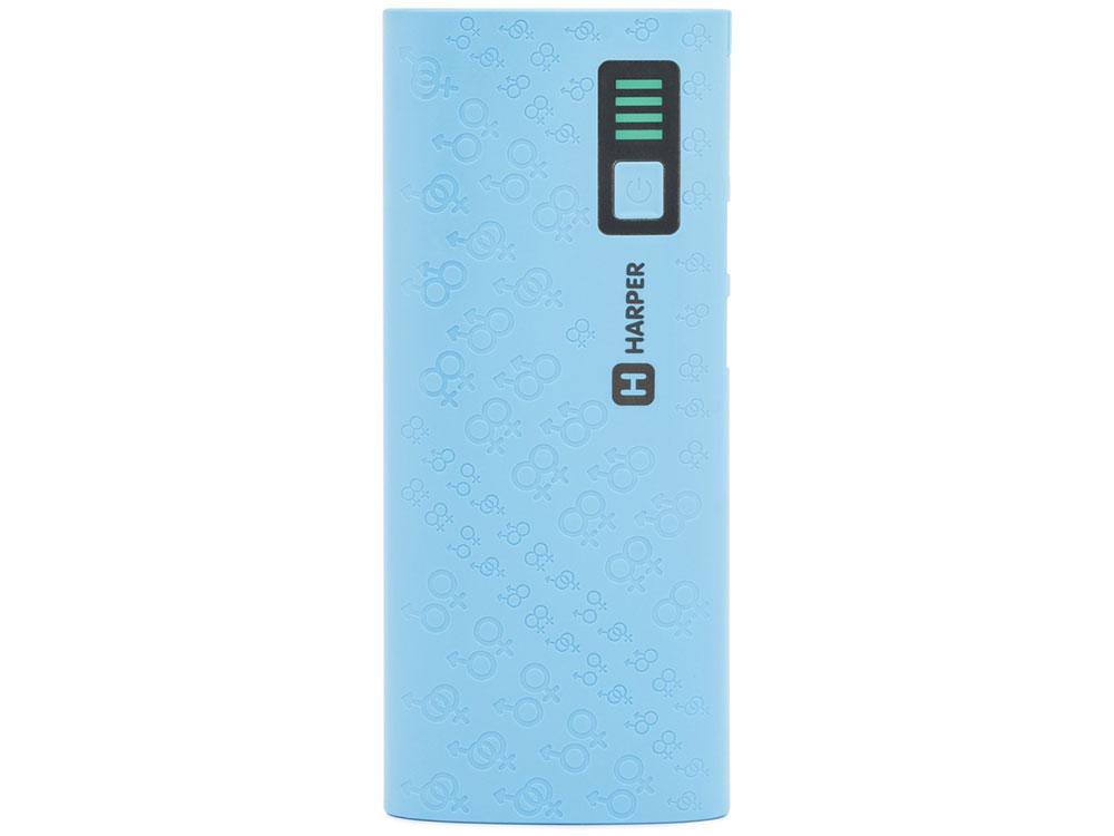 Внешний аккумулятор HARPER PB-10007 blue harper pbs 8801 beige внешний аккумулятор