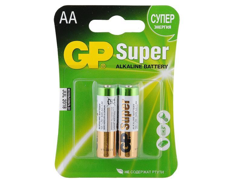 Батарейка GP 15A-2CR2 20/160 АА LR6 (Цена за шт. в блистере 2 шт.) батарейка gp миньоны 15a4 1min 2cr5 5 шт в блистере gp 15a4 1min 2cr5 50 400