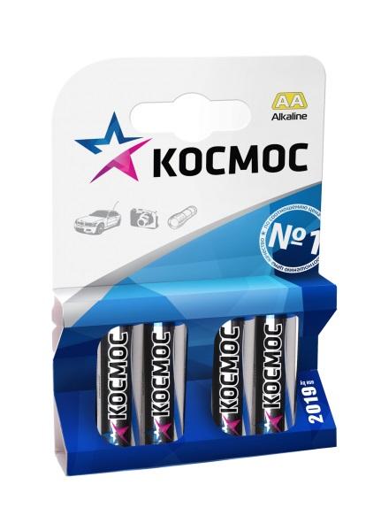 Батарейка КОСМОС LR6 AA (блистер 4шт) батарейка космос koslr6rockets4bl