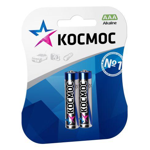 Батарейка КОСМОС KOCLR032BL LR LR03 BP-2 (блист.2шт.) батарейки космос aaa 20шт lr lr03 koclr0320box