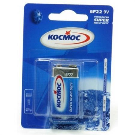 Батарейка КОСМОС KOC6F221BL S 6F22 (блист.1шт.) батарейка космос koslr6rockets4bl