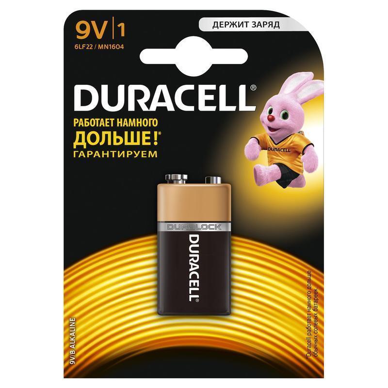 Батарейка DURACELL 6LR61 (6LF22) MN BP1 9В 1шт. (крона) батарейка duracell 12v mn21 a23 1шт