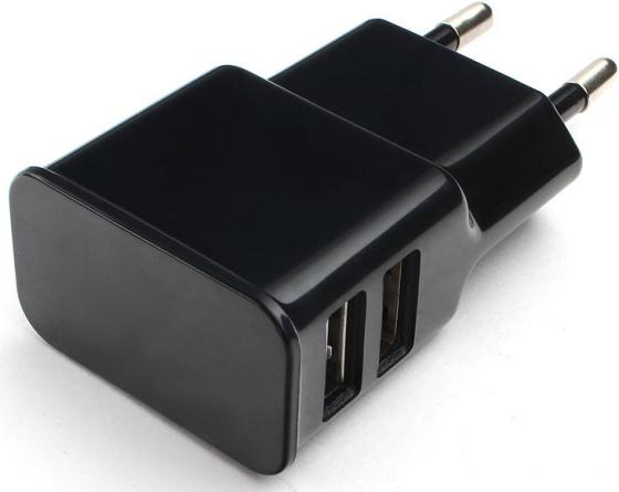 Сетевое зарядное устройство Cablexpert MP3A-PC-12 2.1A 2 х USB черный 12 ports usb hub 2 0 high quality usb2 0 hub splitter 2 switch with eu us power adapter for macbook air laptop pc computer e11