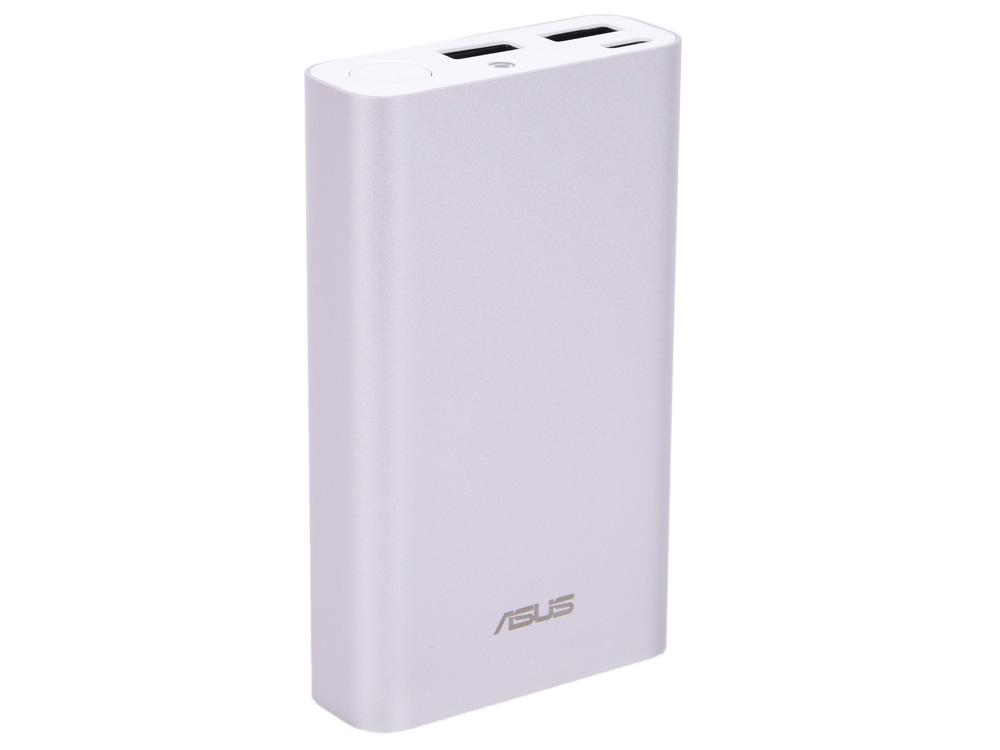Мобильный аккумулятор Asus ZenPower ABTU012 Li-Ion 10050mAh 3A+2A+1A серебристый 2xUSB аккумулятор nobby comfort 019 001 15600 mah 2xusb 2 1a graphite 09353