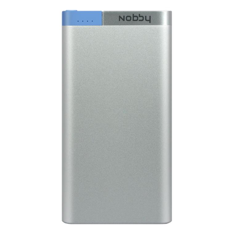 Nobby Внешний АКБ 10000мАч, USB+8-pin, 2A, Li-pol, сереб., Metallic (0306NB-031-001)