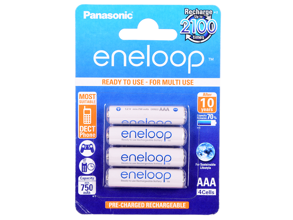 Аккумуляторы Panasonic ENELOOP PRO/ BK-4MCCE/4BE Аккумулятор . (блистер 4 шт.)