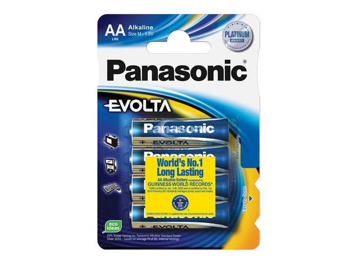 Батарейки Panasonic/ AA EVOLTA (блистер 4шт.) батарейки philips lr6e4b 51 aa 4шт