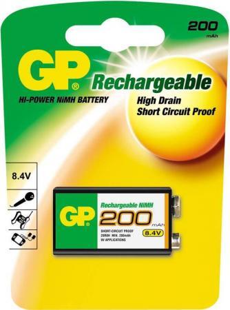 Аккумулятор 200 mAh GPBI 20R8H-BC1 6F22 1 шт gp gp supercell 1604s 6f22 9v 1