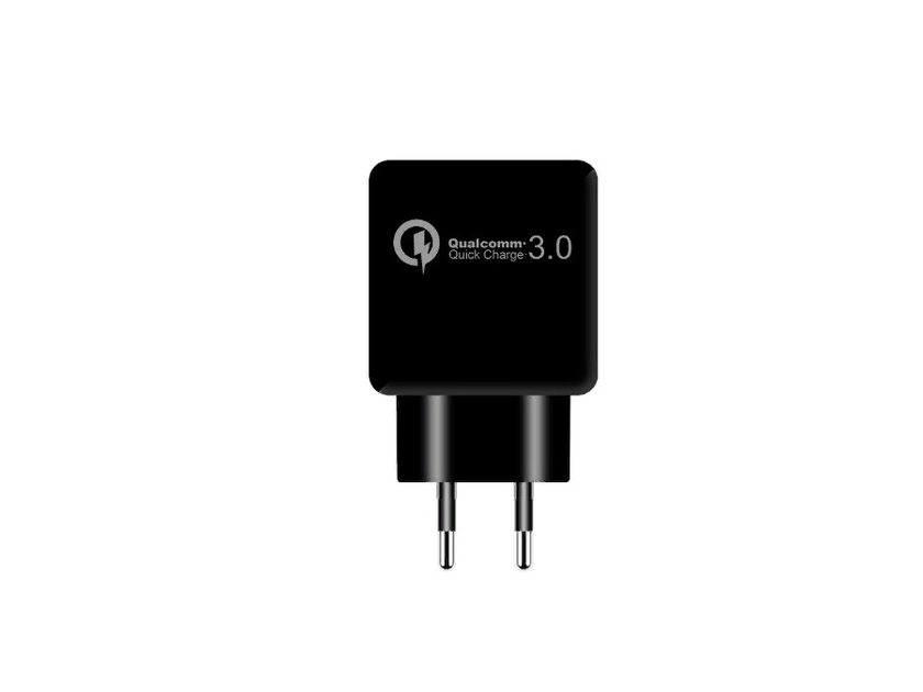 Зарядное устройство USB ORIENT QC-12V1B, Quick Charge 3.0, USB выход: 5В,3.0A или 9В,1.67А или 12В,1.25А, цвет черный 2018 new usb charge waterproof electric shaver for men rechargeable intelligent 3d head shaver razor beards trimmer shaving machin