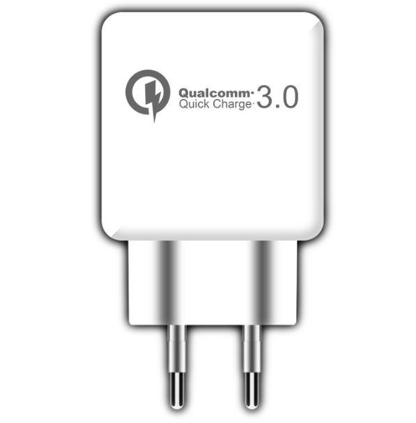 Зарядное устройство USB ORIENT QC-12V1W, Quick Charge 3.0, USB выход: 5В,3.0A или 9В,1.67А или 12В,1.25А, цвет Белый зарядное устройство orient pu 2402 black