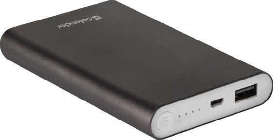 Внешний аккумулятор Power Bank 8000 мАч Defender ExtraLife темно-серый 83622 аккумулятор внешний kreafunk tocharge темно серый