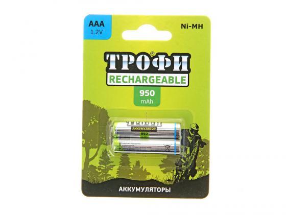 Аккумуляторы 950 mAh ТРОФИ HR03-2BL AAA 2 шт стоимость